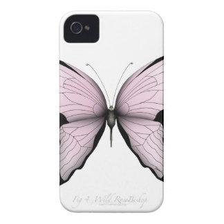 Coque iPhone 4 Case-Mate Évêque rose sauvage de papillon rose