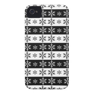 Coque iPhone 4 Case-Mate Flocons de neige - motif de Noël