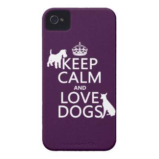 Coque iPhone 4 Case-Mate Gardez le calme et aimez les chiens - toutes les