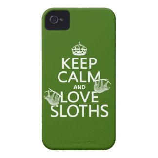 Coque iPhone 4 Case-Mate Gardez le calme et aimez les paresses (toute
