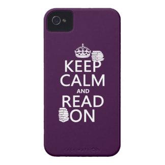 Coque iPhone 4 Case-Mate Gardez le calme et lisez sur (dans toute couleur)