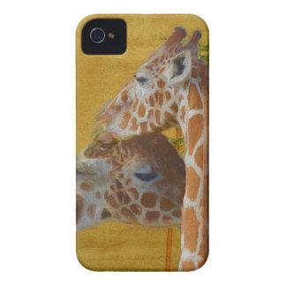 Coque iPhone 4 Case-Mate Girafes douces - peinture