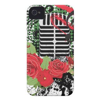 Coque iPhone 4 Case-Mate Grunge vintage 2 de microphone