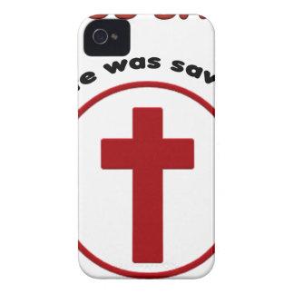 Coque iPhone 4 Case-Mate Jésus économise, T-shirt chrétien de cadeau de