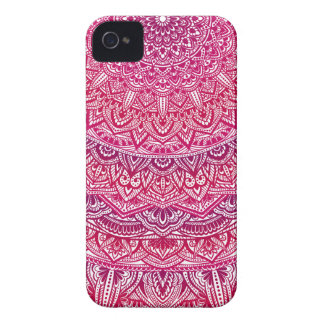 Coque iPhone 4 Case-Mate Jolie dentelle de boho de mandala rose de zen