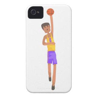 Coque iPhone 4 Case-Mate Joueur de basket avec l'autocollant d'action de