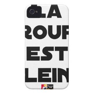 Coque iPhone 4 Case-Mate La Croupe est Pleine - Jeux de Mots