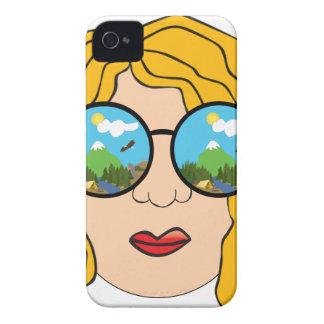 Coque iPhone 4 Case-Mate La fille qui aime l'extérieur