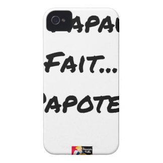 Coque iPhone 4 Case-Mate LA PAPAUTÉ FAIT PAPOTER - Jeux de mots
