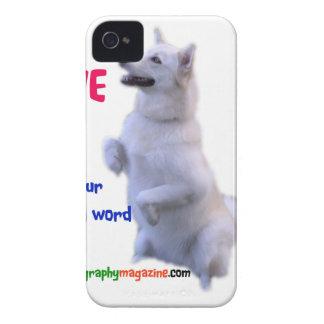 Coque iPhone 4 Case-Mate L'amour est un mot quatre à jambes