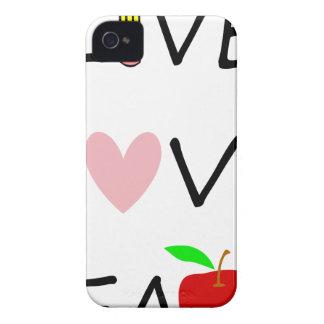 Coque iPhone 4 Case-Mate l'amour vivant enseignent