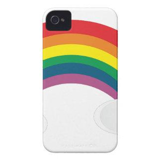 Coque iPhone 4 Case-Mate l'autocollant mignon d'arc-en-ciel opacifie