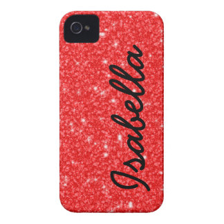 COQUE iPhone 4 Case-Mate LES PARTIES SCINTILLANTES ROUGES GIRLY ONT IMPRIMÉ