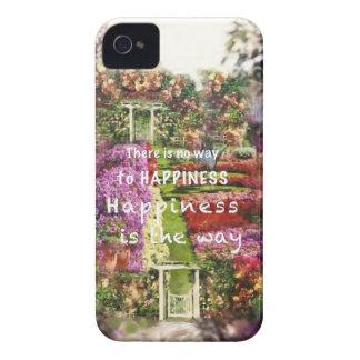Coque iPhone 4 Case-Mate Les portes nous mènent au jardin du bonheur
