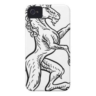 Coque iPhone 4 Case-Mate Manteau de crête de licorne des bras héraldique