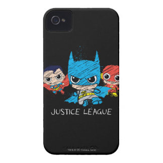 Coque iPhone 4 Case-Mate Mini croquis de ligue de justice