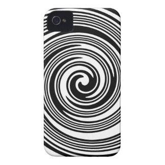 Coque iPhone 4 Case-Mate Motif de tourbillonnement noir et blanc