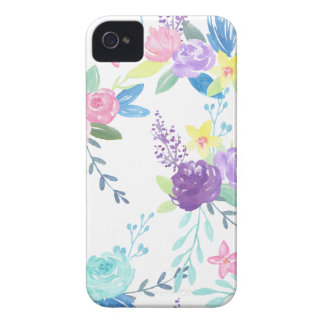 Coque iPhone 4 Case-Mate Motif floral de couleur en pastel d'aquarelle