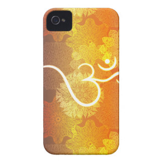 Coque iPhone 4 Case-Mate Motif indien d'ornement avec le symbole d'ohm