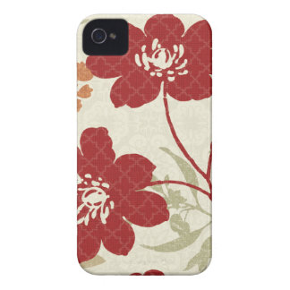 Coque iPhone 4 Case-Mate Ombres florales en rouge et orange