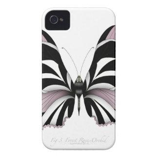 Coque iPhone 4 Case-Mate Orchidée rose de forêt rose de papillon