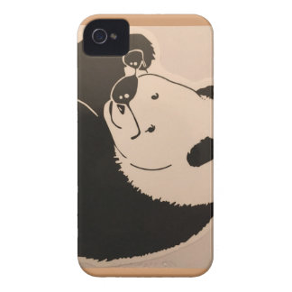 Coque iPhone 4 Case-Mate Panda frais avec des nuances
