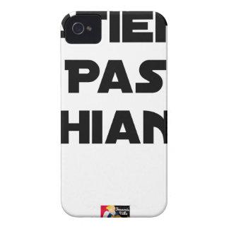 Coque iPhone 4 Case-Mate Patient pas Chiant - Jeux de Mots - Francois Ville