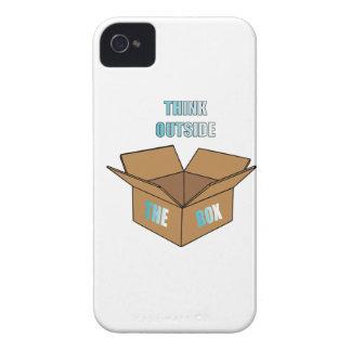 Coque iPhone 4 Case-Mate Pensez en dehors de la boîte