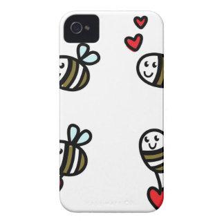 Coque iPhone 4 Case-Mate Peu d'abeilles de vol sur le blanc