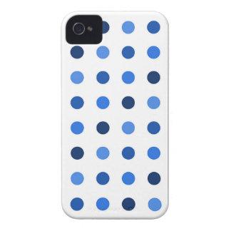 Coque iPhone 4 Case-Mate Pois bleu