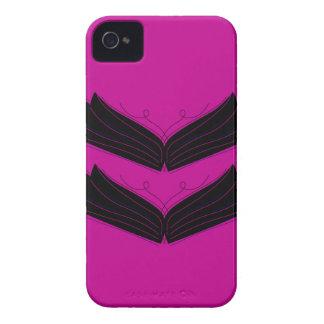 Coque iPhone 4 Case-Mate Pourpre artistique de noir d'ailes
