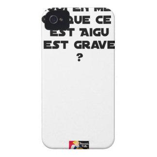 COQUE iPhone 4 Case-Mate POURQUOI EN MÉDECINE DIT-ON QUE CE QUI EST AIGU