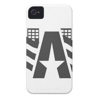 Coque iPhone 4 Case-Mate Premier nom de lettre - un paysage de ville avec