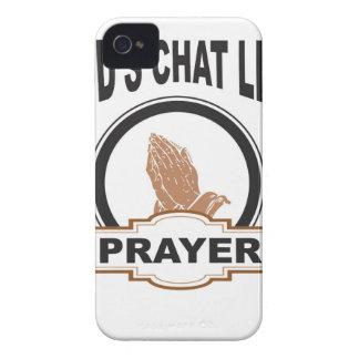 Coque iPhone 4 Case-Mate prière de conversation de dieux