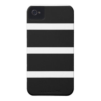 Coque iPhone 4 Case-Mate Rayure noire avec le blanc