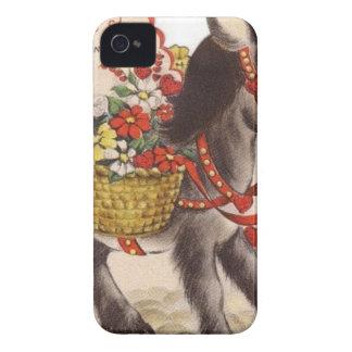 Coque iPhone 4 Case-Mate Rétro petite Saint-Valentin douce vintage d'âne