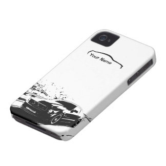 """Coque iPhone 4 Case-Mate Roulement de mustang tiré - """"ajoutez votre propre"""