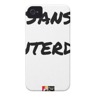 Coque iPhone 4 Case-Mate SANS INTERDIT - Jeux de mots - Francois Ville