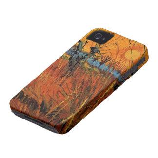 Coque iPhone 4 Case-Mate Saules de Van Gogh au coucher du soleil,