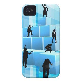 Coque iPhone 4 Case-Mate Silhouettes de personnes d'équipe d'affaires de