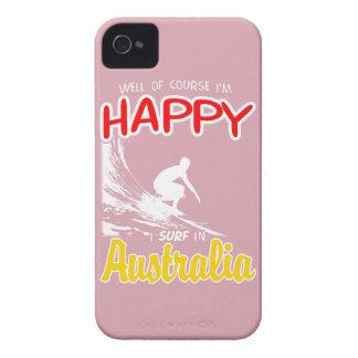 Coque iPhone 4 Case-Mate Surfer heureux AUSTRALIE (blanche)