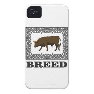 Coque iPhone 4 Case-Mate taureau encadré de race