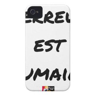 Coque iPhone 4 Case-Mate TERREUR EST HUMAINE - Jeux de mots- Francois Ville
