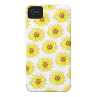 Coque iPhone 4 Case-Mate Tournesols sur le blanc