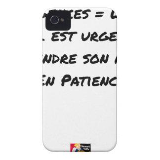 COQUE iPhone 4 Case-Mate URGENCES = LIEU OÙ IL EST URGENT DE PRENDRE SON
