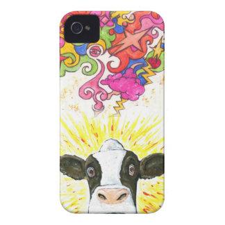 Coque iPhone 4 Case-Mate Vache psychédélique