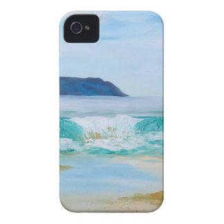 Coque iPhone 4 Case-Mate Vague de rupture par KatGibsonArt - aimez la plage