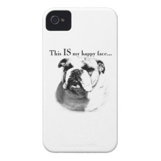 Coque iPhone 4 Case-Mate Visage heureux de bouledogue
