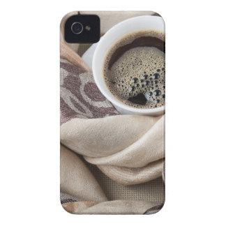 Coque iPhone 4 Case-Mate Vue supérieure d'une tasse blanche de café chaud