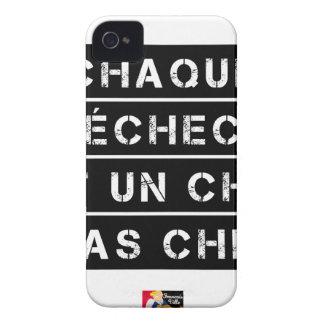 Coque iPhone 4 CHAQUE ÉCHEC est un CHOC pas CHIC